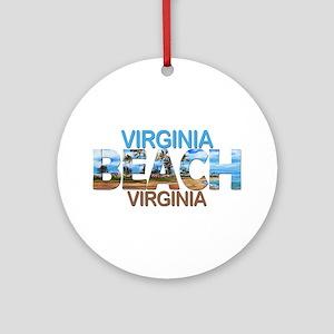 Summer virginia beach- virginia Round Ornament