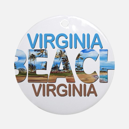 Summer virginia beach- virginia Round Ornament