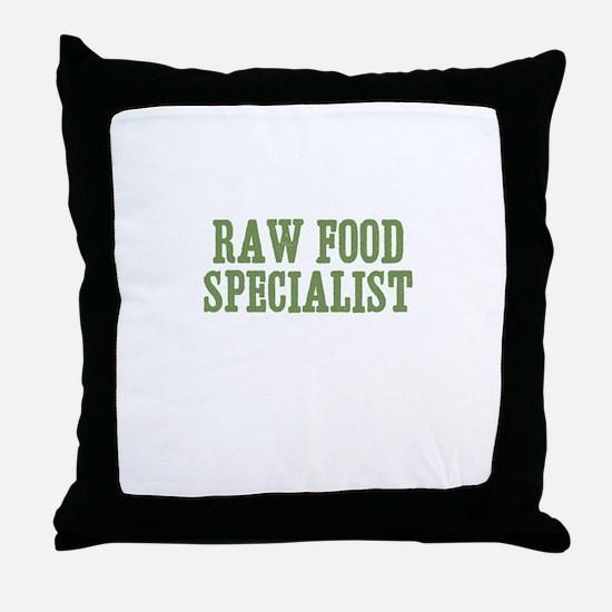 Raw Food Specialist Throw Pillow