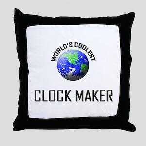 World's Coolest CLOCK MAKER Throw Pillow