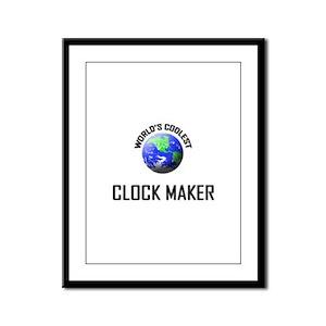World's Coolest CLOCK MAKER Framed Panel Print
