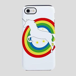 unicorn on a rainbow iPhone 8/7 Tough Case