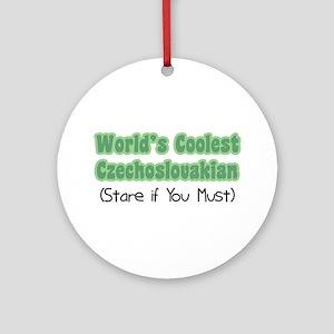 World's Coolest Czechoslovakian Ornament (Round)