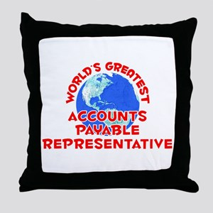 World's Greatest Accou.. (F) Throw Pillow
