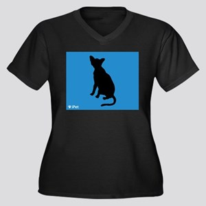 Havana iPet Women's Plus Size V-Neck Dark T-Shirt