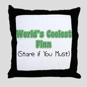 World's Coolest Finn Throw Pillow