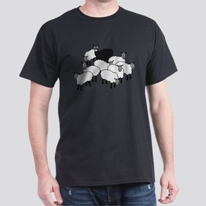Black Sheep Cartoon T-Shirt