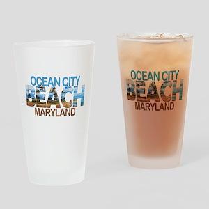 Summer ocean city- maryland Drinking Glass