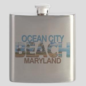 Summer ocean city- maryland Flask