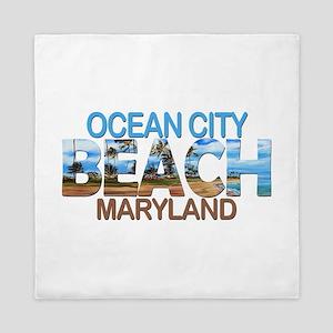 Summer ocean city- maryland Queen Duvet