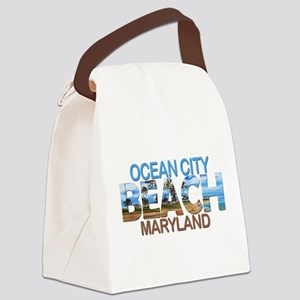 Summer ocean city- maryland Canvas Lunch Bag