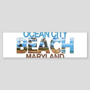 Summer ocean city- maryland Bumper Sticker
