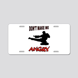 ANGRY Aluminum License Plate