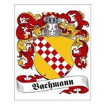 Bachmann Family Crest Small Poster