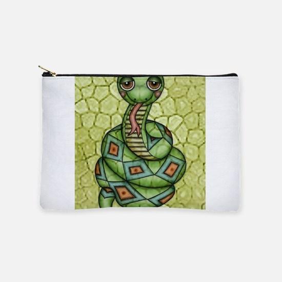 Sleepy Snake Makeup Bag