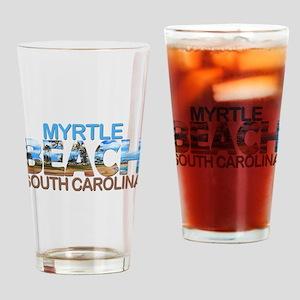 Summer myrtle beach- south carolina Drinking Glass