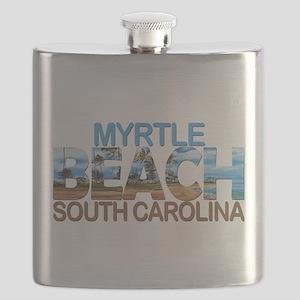 Summer myrtle beach- south carolina Flask