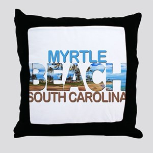 Summer myrtle beach- south carolina Throw Pillow
