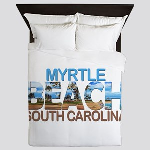 Summer myrtle beach- south carolina Queen Duvet
