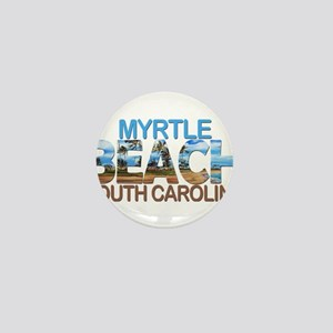 Summer myrtle beach- south carolina Mini Button