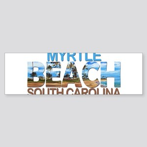Summer myrtle beach- south carolina Bumper Sticker