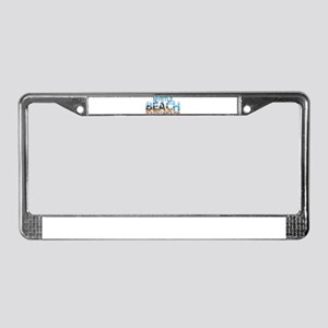 Summer myrtle beach- south car License Plate Frame