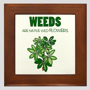 Weeds Framed Tile