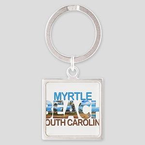 Summer myrtle beach- south carolina Keychains
