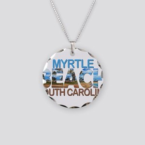 Summer myrtle beach- south c Necklace Circle Charm