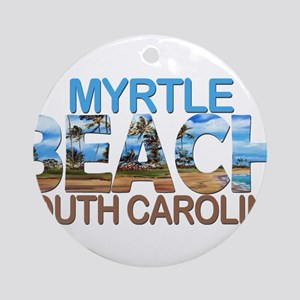 Summer myrtle beach- south carolina Round Ornament