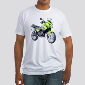 Triumph Tiger Motorbike Light Green Fitted T-Shirt