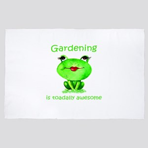 Gardening is Toadally Awesome Fun Frog 4' x 6' Rug