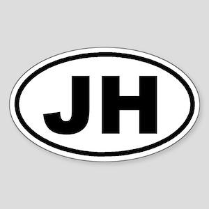 JH Jackson Hole, Wyoming Euro Oval Sticker
