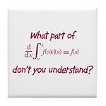 Calculus Equation Tile Coaster