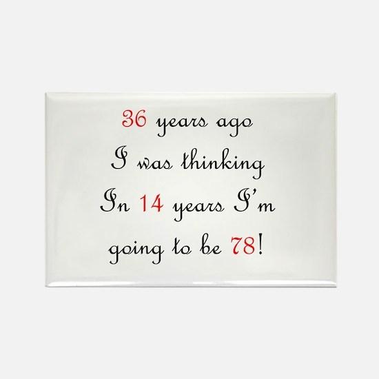100th birthday math Rectangle Magnet