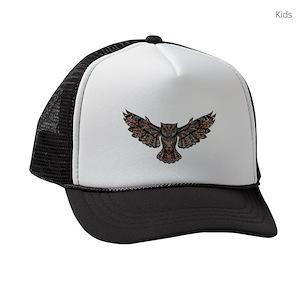 8a265f1c9842e Owls In Flight Kids Trucker Hats - CafePress