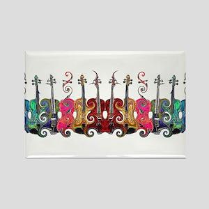 ViolinSwirls Rectangle Magnet