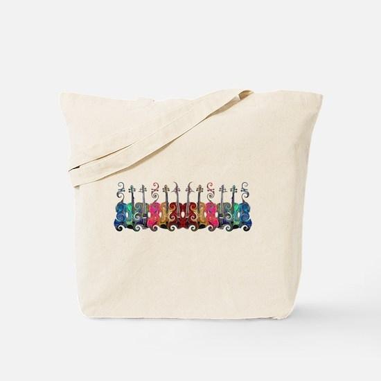 ViolinSwirls Tote Bag