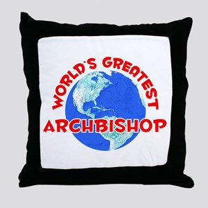 World's Greatest Archb.. (F) Throw Pillow