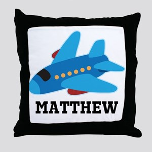 Personalized Airplane Jet Plane Throw Pillow