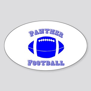 Panther Football Oval Sticker