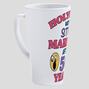 Funny 50th Anniversary 17 oz Latte Mug