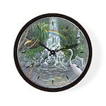Rainforest Waterfall Wall Clock
