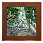 Rainforest Waterfall Framed Tile