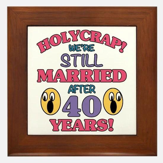 40 anniversary Framed Tile