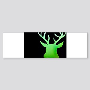 Lime Green Deer Bumper Sticker
