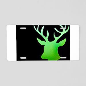 Lime Green Deer Aluminum License Plate