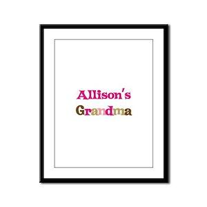 Allison's Grandma Framed Panel Print