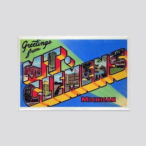 Mt. Clemens Michigan Greetings Rectangle Magnet