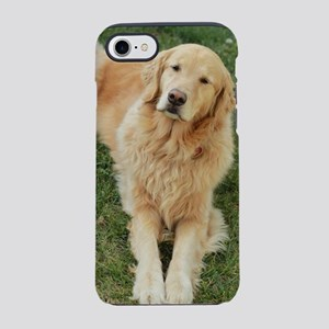golden retriever on grass re iPhone 8/7 Tough Case